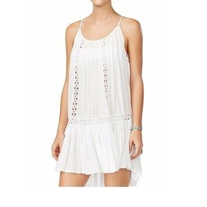 Raviya Crochet-Trim Swing Dress Swimsuit Cover-Up